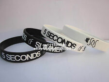 1pc Five 5 SECONDS OF SUMMER 5sos 2 Colours Silicone Custom Wristband Bracelet