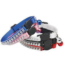 East Side Collection Rhinestone Kitten Cat Adjustable Breakaway Collars CUTE!