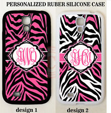 NEW PERSONALIZED PINK BLACK ZEBRA MONOGRAM Case For Samsung Galaxy S7 S6 NOTE 7