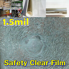 """36""""/Safety Clear 1.5mil Tint Window Film /Glass/Security/Residential/UV/ROLL/"""