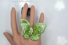 Crystal Citrous Baylee Butterfly Bling Diva Ring - 3 Colors
