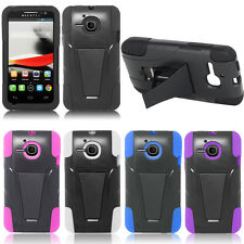 Heavy Duty Hybrid Impact Case Cover Stand For Alcatel One Touch Evolve OT-5020T