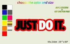 Nike Just Do It 3 color Wall Sticker Decal Vinyl 10 x 2.4 cm 3.9'' x 0.9''