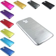 Brushed Aluminum Metal Battery Cover Door Case For Samsung Galaxy S 5 V i9600 W