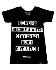 Killstar Clothing Motto Womens T Shirt Black Goth Be Weird Become A Witch Tee