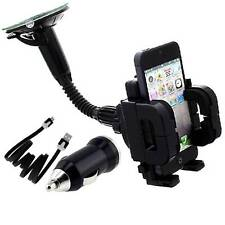 FLY CAR CHARGER-CABLE + WiNDSCREEN DASHMOUNT HOLDER FOR LG OPTIMUS E730 and more