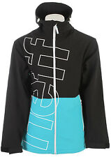 Neff Daily Softshell Jacket Black/Cyan Mens