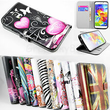 Stand Wallet Leather Cell Phone Cover TPU Case For Samsung Galaxy S5 S V i9600