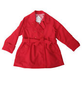 NWT Dani by Sarah Louise Red Spring Trench Coat Size 2, 3, 4, 5, 6