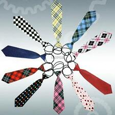 10 Styles School Girl Boy Kids Wedding Elastic Tie Necktie
