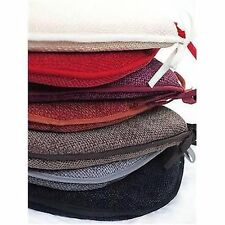 Foam Seat Pads Garden / Kitchen Chair Velour Basket Weave Pattern 38cm x 38cm