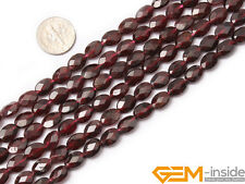 Natural Dark Red Garnet Gemstone Oval Faceted Beads For Jewelry Making 15""