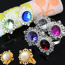 12 Pcs Diamond Napkin Ring Serviette Holder Wedding Banquet Dinner Decor Favor