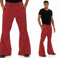 Mens Tartan Fancy Dress Costume Flares - Scotsman / Scottish Kilt Trousers