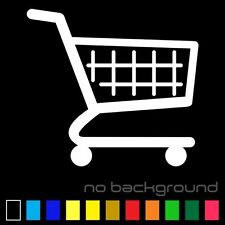 Shopping Cart Sticker Vinyl Decal Car Window Laptop Bumper Grocery Store Market