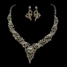 New Style Europe Fashion Wedding Necklace Earring Set Hot Sales Bridal Jewelry