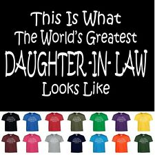 Worlds Greatest DAUGHTER IN LAW Funny Mothers Day Wedding Christmas Gift T Shirt