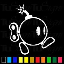 Bob-Omg Bomb Sticker Vinyl Decal Super Mario Bros Nintendo Car Window Wall Decor