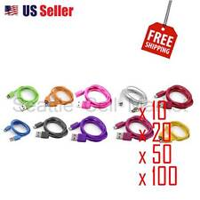 LOT 10x 20x 50x 100x Color Micro USB Cable Cord Data Sync Charging For Android