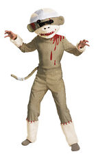 ZOMBIE SOCK MONKEY CHILD COSTUME Animal Barnyard Safari Theme Party Halloween