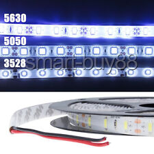 3528 5050 5630 SMD 5M Waterproof LED Strip Light Warm Cool White Ampoules DC 12V
