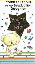 Graduation congratulations card for Son or Daughter featuring teddy & gold star