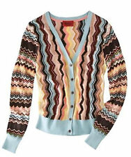 nwot MISSONI for Target Womens Colore CARDIGAN Button Up Sweater Zig Zag