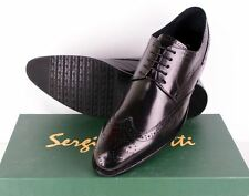 Sergio Duletti Real Italian Leather Brogues Dress shoes Pointed Toe L184 Black