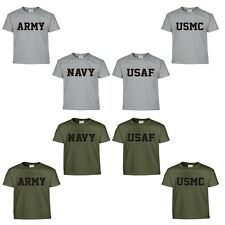 Army Navy Air Force USAF Marines USMC Military Physical Training PT T Shirt