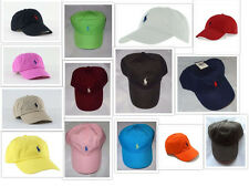NWT New Polo Ralph Lauren Adjustable Strap Pony Logo Baseball Hat 1 Size
