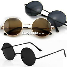 Hot Fashion High Quality Unisex Retro Round Silver Gold Metal Frame Sunglasses
