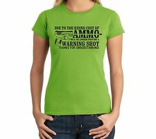 Due To Rising Cost of Ammo Juniors T Shirt Top Gun Rights 2nd Amendment Firearm