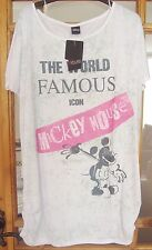 LADIES PLUS SIZE WHITE DISNEY MICKEY MOUSE T-SHIRT FROM YOURS SIZE 16-28  BNWT