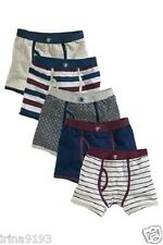 Next Kids Boys Plum And Blue Trunks Five Pack,two missing