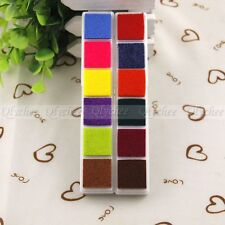 Multi 6 Color DIY Craft Ink Pad Oil Based Print For Rubber Stamps Paper Wood New