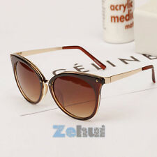 New Women's Retro Sunglasses Bat Shaped Glasses Metal Frame Eyeglasses 5 Colors