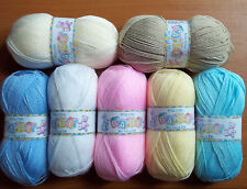 King Cole 100grm Big Value Baby DK DK: 11 shades available New Shades Added