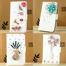 beautiful flip leather girls wallet secret case cover 3D bling diamond For sony