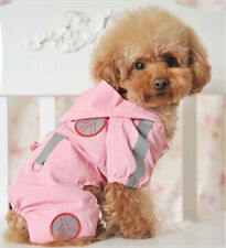 Good dog clothes small dog pet pink hoodie summer raincoat suit for 4-leg XXS-L
