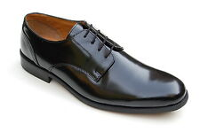 Clarks Mens Classic Formal Shoes Hitch Spring Black Hi Shine Leather