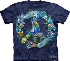 NEW UNDERWATER PEACE Sign Fish Dolphin Under Water Sealife The Mountain T Shirt