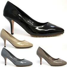 LADIES COURT SHOES NEW WOMENS HIGH HEELS FANCY OFFICE SMART MARY JANE SHOES SIZE