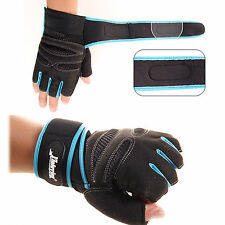SPORT GLOVES FITNESS WEIGHT LIFTING TRAINING BODYBUILDING CROSSFIT VELCRO CLSER