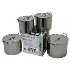 Stainless Steel Stock Pots Cooking Casserole Boiling Pot Deep Catering Stockpot