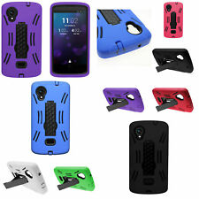 Hard Soft Hybrid Armor Stand Phone Cover Case for LG Google Nexus 5 Accessory