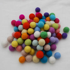 100% Wool Felt Balls - 2cm - Handmade - 100 Count - Assorted / Mixed Colours