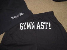 Personalized Black Gymnast  Butt shorts Girls Toddler Youth Sizes