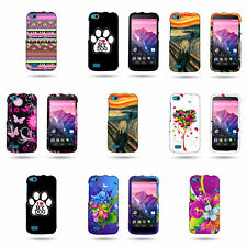 Hard Slim Plastic Snap On Bright Design Phone Cover Case for BLU Life Play