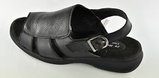 24 Hour Comfort Womens Brown Leather Extra Wide Sandal LS 540
