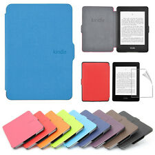 Ultra Slim PU Leather Smart Magnetic Case Cover For Kindle Paperwhite 1/2 + Film